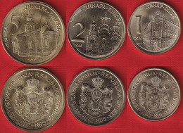 Serbia Set Of 3 Coins: 1 - 5 Dinara 2020 UNC - Serbia