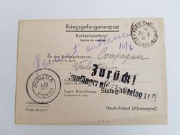 Carte De Prisonnier Stalag II A Geprüft 59 1941 - 1939-45