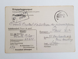 Carte De Prisonnier Stalag II A Neubrandenburg Geprüft 81 B 1942 - 1939-45