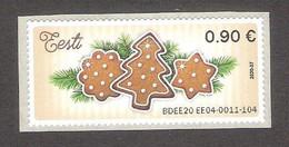 2020 Estonia ATM EE04 MNH Stamp  Christmas  Mi 5 - ATM - Frama (labels)
