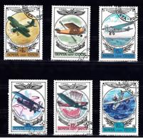 Russie Y&T PA 123/128 Histoire De L'aviation Russe Oblit - Gebruikt