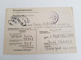 Carte De Prisonnier Stalag II A Neubrandenburg 1942 Geprüft 31b - 1939-45