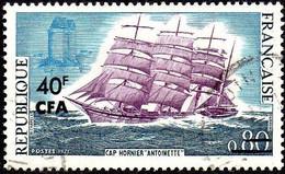 """Réunion Obl. N° 395 - Voilier """"Cap Hornier Antoinette"""" - Gebruikt"""