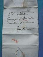 Pignerol. Pignerole Pour Torino. 1802 - 1. ...-1850 Prefilatelia
