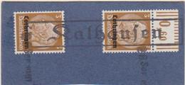 Fragment De Carton De Kalhausen (Tampon 300 Kalhausen 79x13) TP Lothringen 3pf X 2 Le 28 Sep.1940 - Elzas-Lotharingen