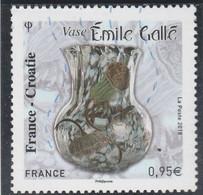 FRANCE CROATIE EMILE GALLE 2018 OBLITERE YT 5275 - Used Stamps