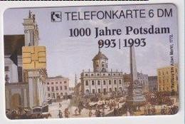 TK 30481 GERMANY - Chip O051 07.93 2500 DPR (?) 1000 Jahre Potsdam  MINT! - O-Series : Series Clientes Excluidos Servicio De Colección