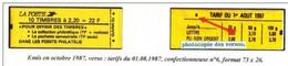 2F20 LIBERTE CARNET Série De 4 Carnets Couverture Jaune : ( Trimestrielle Au Lieu De Semestrielle, Pour Offrir Conf, 6, - Freimarke