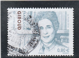 FRANCE 2016 FRANCOISE GIROUD OBLITERE A DATE YT 5079 - Used Stamps