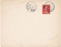 10c Semeuse Camée Avec Sol Obl Paris 8 R. De Grammont 16 4 1906 Bonne Date Mais Lettre N'ayant Pas Voyagé - 1906-38 Semeuse Camée