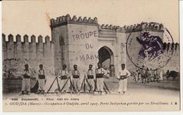 OUDJDA - Occupation D' Oudjda, Avril 1907 - Camp Des Spahis +  TROUPE DU MAROC+CACHET MILITAIRE //NON CIRCULEE - Otras Guerras
