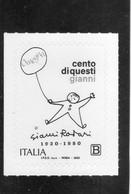 2020 Italia - Gianni Rodari - Scrittore - 2011-...:  Nuevos