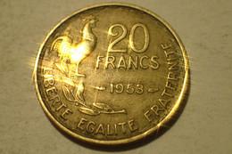 1953 - France - 20 FRANCS, Guiraud, KM 917 - L. 20 Francs