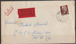 DDR 1963 Nr.938 Walter Ulbricht ST. Borna Eilsendung Nach Hilden Ankunftstempel  (d 4366 ) Günstige Versandkosten - Covers & Documents