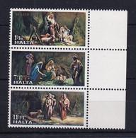 Malta: 1977   Christmas   MNH Strip - Malta
