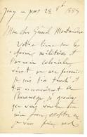 Monsieur MONTAUDON Lettre D'un Général Le 5 Novembre 1855 à La Fouchardière Par Lussac Les Châteaux - Autografi