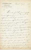 Paul De L'ADMIRAULT Gouverneur De Paris Le 1er Juin 1873 - Autografi