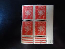 N° 514 Coin Daté En Timbres Neufs 23/08/1941 Type Pétain - 1940-1949