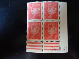 N° 514 Coin Daté En Timbres Neufs 24/09/1941 Type Pétain - 1940-1949