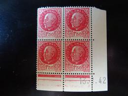 N° 516 Coin Daté En Timbres Neufs 13/01/1942 Type Pétain - 1940-1949