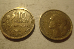 1950 - France - 10 FRANCS, Guiraud, KM 915.1, Gad 812 - K. 10 Francs