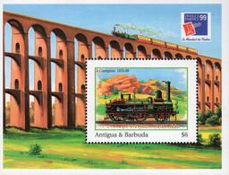Antigua & Barbuda - 1999 - Railway By A. Crampton -  Philexfrance '99 World Philatelic Exhibition - Mint Souvenir Sheet - Antigua Y Barbuda (1981-...)