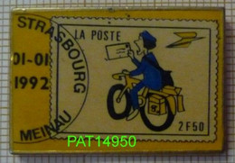 LA POSTE STRASBOURG MEINAU FACTEUR à VELO Sur TIMBRE POSTE à 2F50 PTT - Postwesen