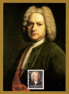 BRD 1985  Mi.Nr. 1249 ,  EUROPA CEPT Johann Sebastian Bach - Maximum Card - Erstausgabe Bonn 7.5.1985 - 1985