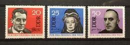 (4459) DDR 1964 : Sc# 716-718 PROMOTING WORLD PEACE VON SUTTNER FREDERIC JOLIOT CURIE VON OSSIETZKY - MNH VF - Ongebruikt