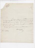 Autographe Signature à L'encre Du Frère De Napoléon Louis Bonaparte - Handtekening