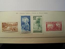 MADAGASCAR - 1942 - Quinzaine Impériale De La Protection De L'enfance Indigène - YT PA N° 41 à 44  - Neufs * Charnière - Luftpost