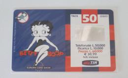 INTROVABILI & RARE - Tim - Betty Boop Europa Card Show 1999 - 812 Pz Venduti - 1101 - [2] Tarjetas Móviles, Prepagadas & Recargos
