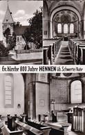 AK Hennen über Schwerte / Ruhr - Ev. Kirche 800 Jahre - Mehrbildkarte (53226) - Schwerte