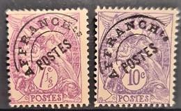 FRANCE 1922/47 - MNG - YT 42, 43 - Préoblitérés - 1893-1947
