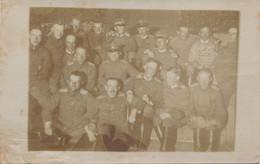 Carte-photo - Groupe D'officiers Allemands à Montigny (20 Mai 1917) - Nom Du Bataillon Au Verso - 1.WK - WW1 - Guerra, Militari