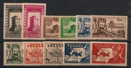 Fezzan - 1949 - N°Yv. 43 à 53 - Série Complète - Neuf * / MH VF - Neufs