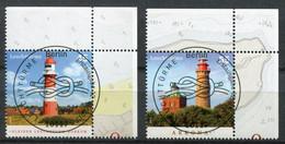 """Germany,Allemagne 2012 Mi.Nr.2942/43 """"Leuchttürme-Borkum Und Kap Arkona """"2 Werte Used - Gebraucht"""