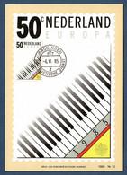 Nederland 1985 Mi.Nr. 1274 , EUROPA CEPT Europäisches Jahr Der Musik - Maximum Card - Stempel Groningen -4.VI.85 - 1985