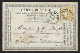 Cachet Type 17 BOLBEC (Seine Inf.) 1874 Sur CP ,Aff 15c N° 59 ,très Beaux Cachets - 1849-1876: Période Classique