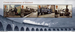 Great Britain - 2012 - Classic Locomotives Of Scotland - Mint Souvenir Sheet - Nuevos