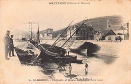 CPA BRETAGNE - St-BRIEUC - Chapelle Et Quais Du Legué (Marée Basse) - Saint-Brieuc