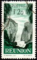 Réunion Obl. N° 269 - Détail De La Série émise En 1947 - 1f20 Vert Et Gris - Usados
