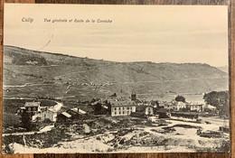 CULLY - BOURG EN LAVAUX 1910: VUE DE LA GARE ET ROUTE DE LA CORNICHE... SUPERBE - VD Vaud