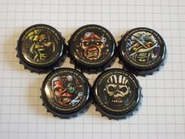 Angleterre - Lot De 5 Capsules De Bières Différentes - Trooper - Iron Maiden - Legacy Of The Beast - Robinsons Brewery - Bière