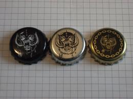 Angleterre & Suède - Lot De 3 Capsules De Bières Différentes - Motorhead - Road Crew - Bastards - Lemmy - Bière