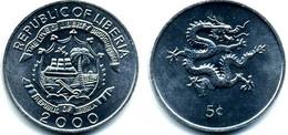 Liberia - 5 Cents 2000 UNC Bank Bag - Liberia