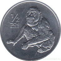 North Korea - 1/2 Chon 2002 UNC Bank Bag - Liberia