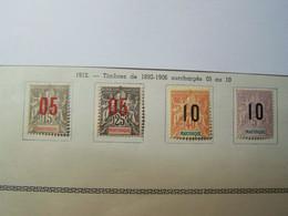 MARTINIQUE - 1912 -  Surcharge 05 Ou 10 - YT N° 78/81 - Neuf * Avec Trace De Charnière - Ungebraucht