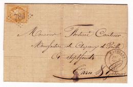 Lettre 1872 Caussade Émile Monlon Tarn Et Garonne Fortuné Cantecor CHAPELLERIE Septfonds Chapeau De Paille Hat - 1871-1875 Cérès