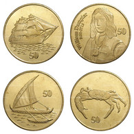 Christmas Island - Set Of 4 Coins - 50 Cent 2016 UNC Roll - Other - Oceania